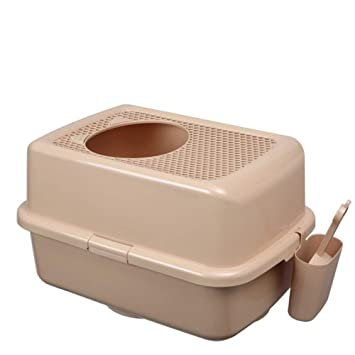 Cat toilet Rejilla para Gatos Inodoro Adicional Extra Grande con Baño Semicerrado,6: Amazon.es: Hogar