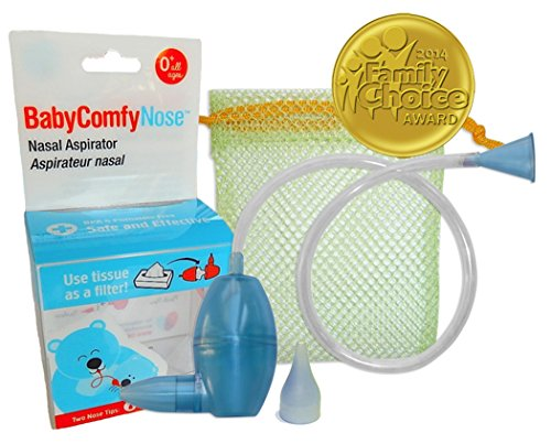 BabyComfy Nasal Aspirator -- The Snotsucker -- Hygienically & Safely Removes Babys Nasal Mucus  Blue