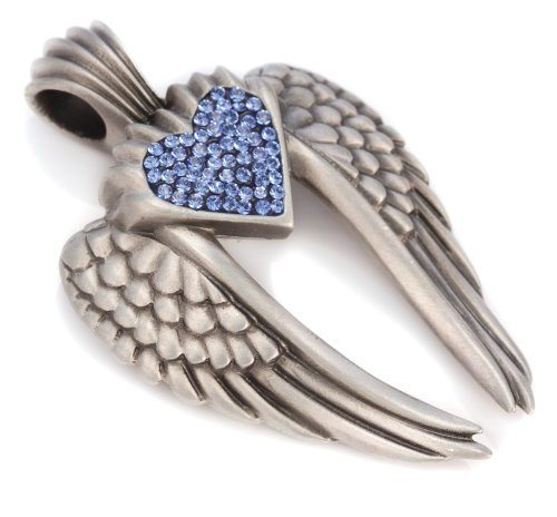(Bico Wings of Uriel Pave Pendant (PV7 Blue) - Love is My Destiny You are My Fate - Swarovski Crystal)