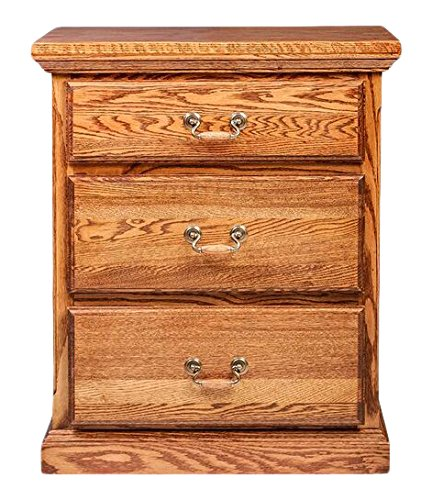 Forest Designs FD-3035- TC- UA Traditional Three Drawer Nightstand, 25
