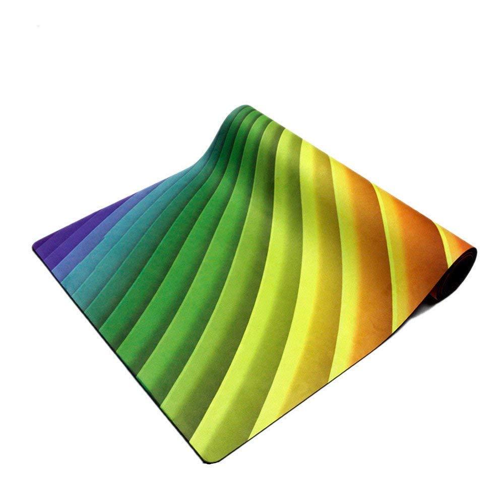 MEIDI Home Flache Unterstützung Gummiübungsmatte Yogamatte 0,35 Mm Umweltfreundliche Fitness Rutschfeste Yogamatte