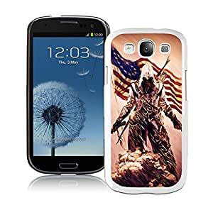 Unique S3 Case,assassins creed 3 desmond miles pistol axe flag White Phone Case For Samsung Galaxy S3 Cover Case