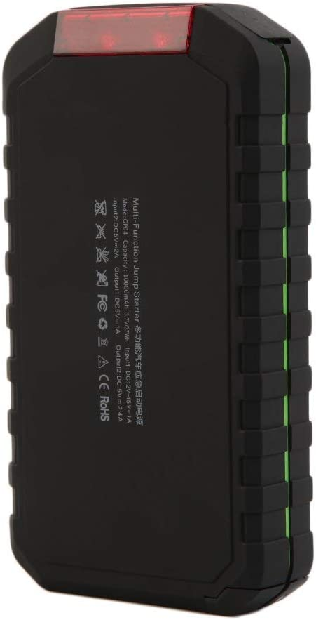 Multifunction Car Emergency Jump Start 10000Mah Power Supply Charger Booster Black+Green