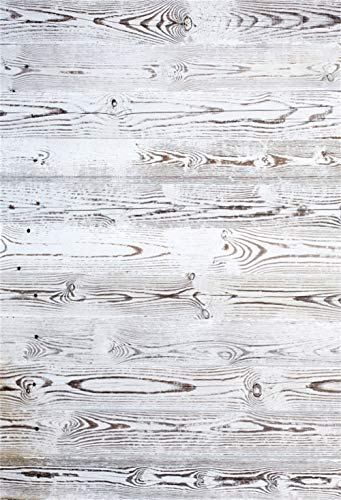 CSFOTO 8x10ft Vintage Wood Plank Backdrop White Wooden Board Wall Photography Background Interior Decoration Goods Children Adult Portrait Shooting Photo Booth Studio Video Props Wallpaper