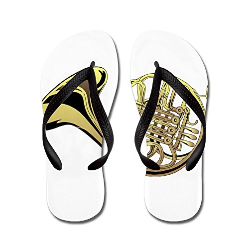 CafePress French Horn - Flip Flops, Funny Thong Sandals, Beach Sandals Black
