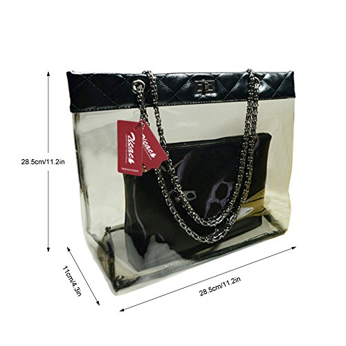 waterproof Pockets Shoulder Bag Blue Fashion Women's Double Zicac BLACK Style bags Handbag wcI8YyBq
