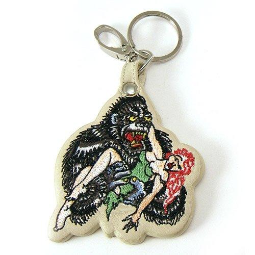Ed Hardy Licensed Don Gorilla Leather Keychain Keyring ()