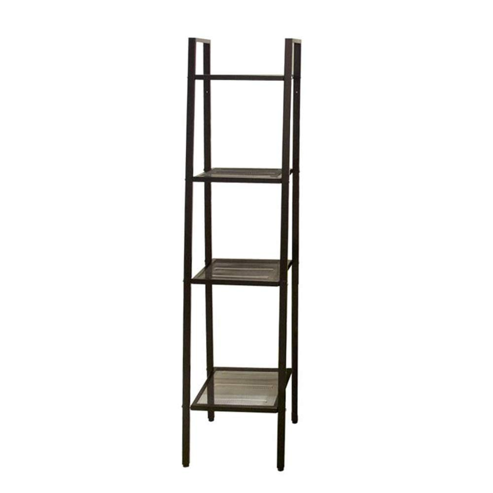 Black 13.7713.7758.26in JCAFA Shelves Trapezoid Bookcase Industrial Stand Carbon Steel Wall Frame DIY Assembly Living Room, Kitchen, Bathroom, 3 colors (color   Red, Size   13.77  13.77  58.26in)