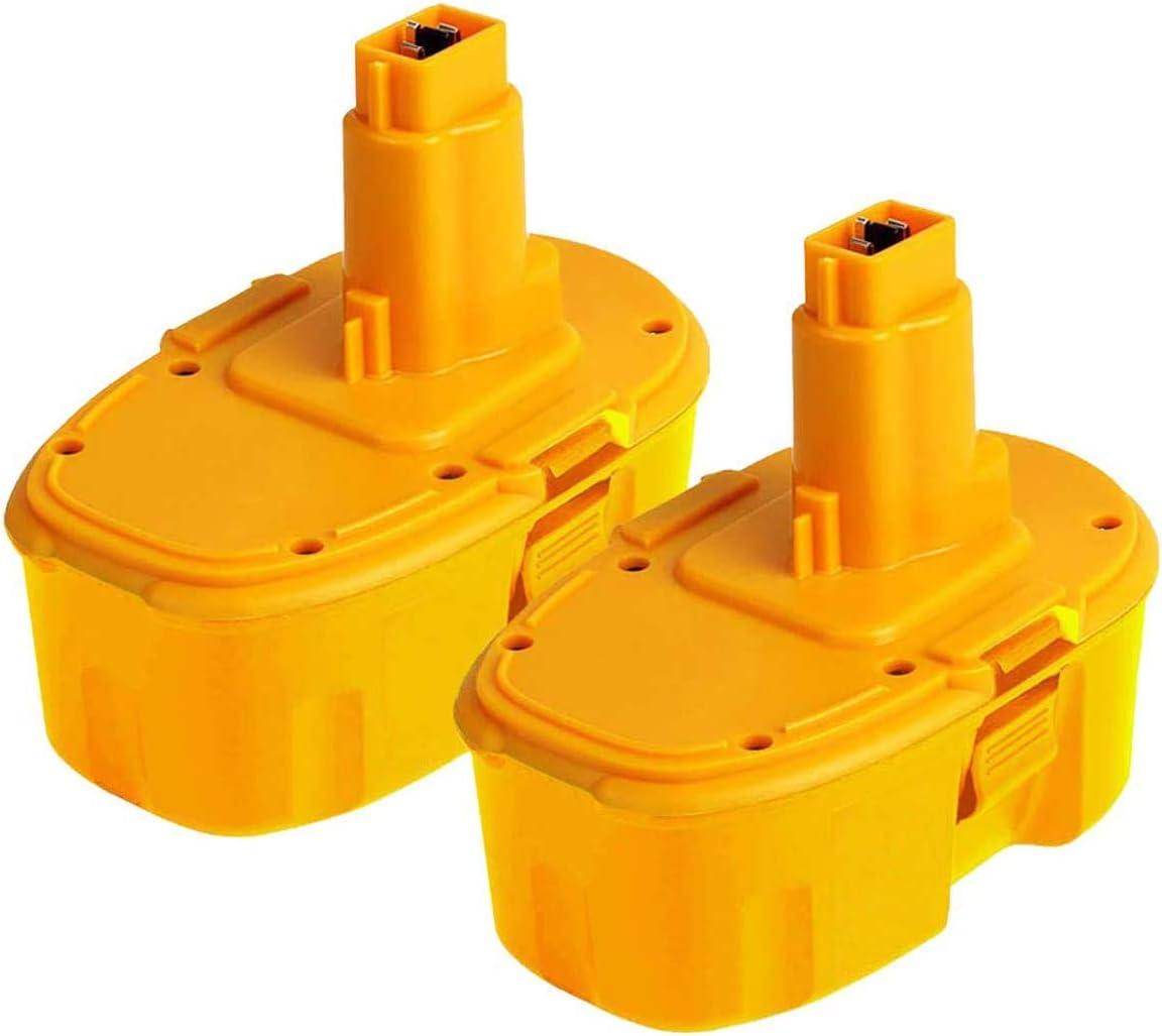 2Pack 14.4V 3,0Ah DW9094 Ni-Mh Replace for Dewalt 14.4V Battery XRP DC9091 DW9091 DW935 DE9038 DE9091 DE9092