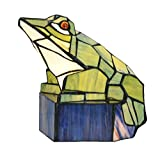 Niloah NH15262 Green Frog Tiffany Style Stained Glass table lamp night light