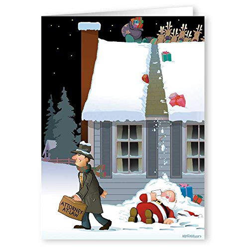 Attorney Greeting Cards - Attorney Theme Holiday Card - 18 Boxed Christmas Cards & Envelopes (Funny Personalized)