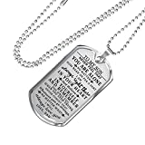 Birthday Gift for Son to My Son Dog Tag Chain Gifts from Father - I Will Always Love You - Personalized Gang Gifts for Son from Dad