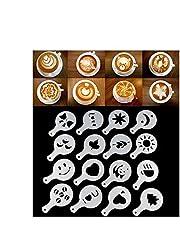 قوالب استنسل باريستا بتصميم عصري لتزيين القهوة والكابتشينو