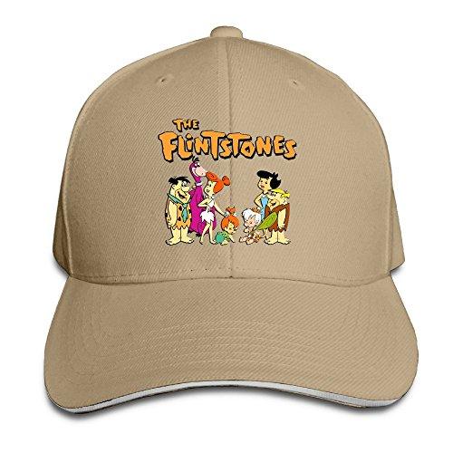 the-flintstones-unisex-100-cotton-adjustable-trucker-hat-natural-one-size