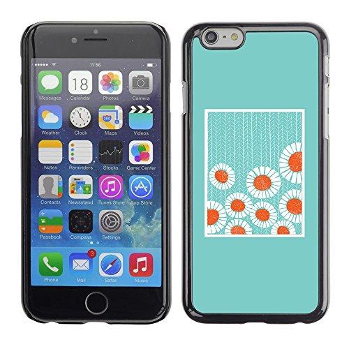 TopCaseStore / caoutchouc Hard Case Housse de protection la Peau - Minimalist Baby Blue Flowers - Apple iPhone 6