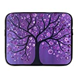 Ministoeb Purple Tree Love Art Laptop Storage Bag - Portable Waterproof Laptop Case Briefcase Sleeve Bags Cover