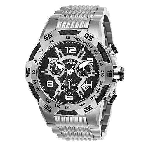 (Invicta Mens Speedway Quartz Chronograph Stainless Steel Swiss Watch - Model 25285)