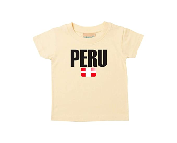 Shirtstown Bebé Niños Camiseta Fútbol Camiseta de País Peru: Amazon.es: Ropa y accesorios