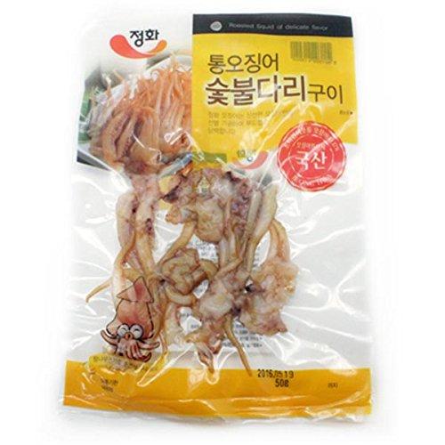 [KFM] Korean Food Korea Fire Grilled Squid Legs 50g x 5 통오징어 숯불다리 구이 50g x 5봉