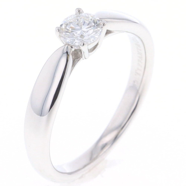 (ティファニー) TIFFANY&Co. ソリテール H VVS1 EX ダイヤ 0.26ct リング指輪 プラチナPT950/ダイヤモンド ダイヤモンド0.26ct レディース 中古 [PD2] B07D5RZ9M7