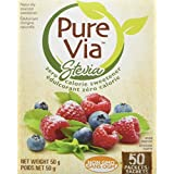 Pure Via Stevia 50 Packet, 50 Grams