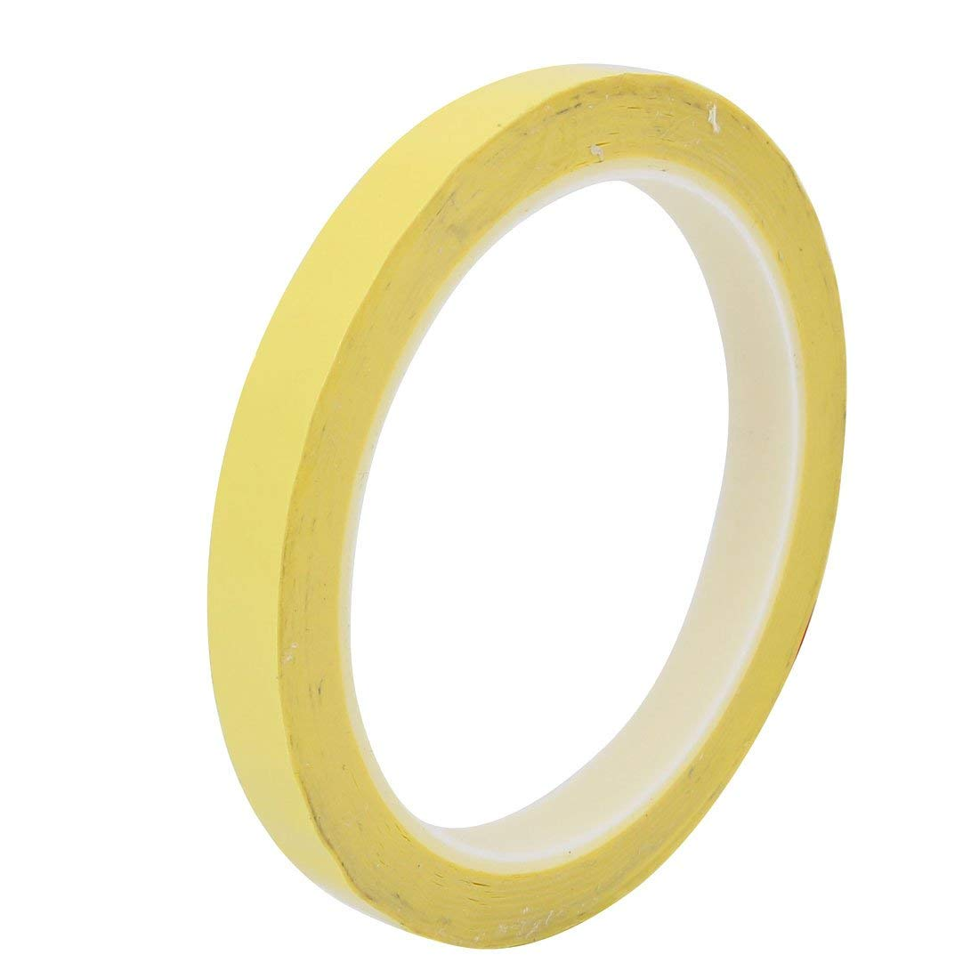 PET Plastic 10mm Width 66M Length Self-Adhesive Insulation Marking Tape Yellow Miki&Co ZZA-ZY-NET-063382