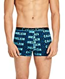 Calvin Klein Men's Underwear Id Cotton Trunks, Performance Logo Print Athenian Blue, Medium