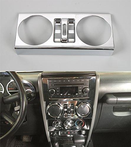 Opar Chrome Silver Center Windows Button Trim for 2007 - 2010 Jeep JK Wrangler Unlimited 4-Door