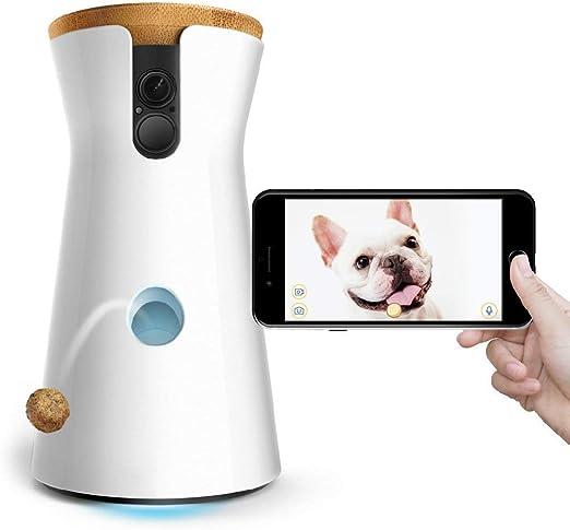 UNIIKE Alimentador Automático De Mascotas Perros Gatos Conejo Y Animales Pequeños Dispensador De Alimentos Cámara Full HD WiFi para Mascotas con Alerta De Lanzamiento Y Ladrido De Audio De 2 Vías: Amazon.es: