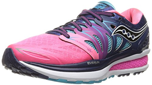 Saucony Women's Hurricane ISO 2 Running Shoe, Blue/Pink, 8 M US by Saucony (Image #1)