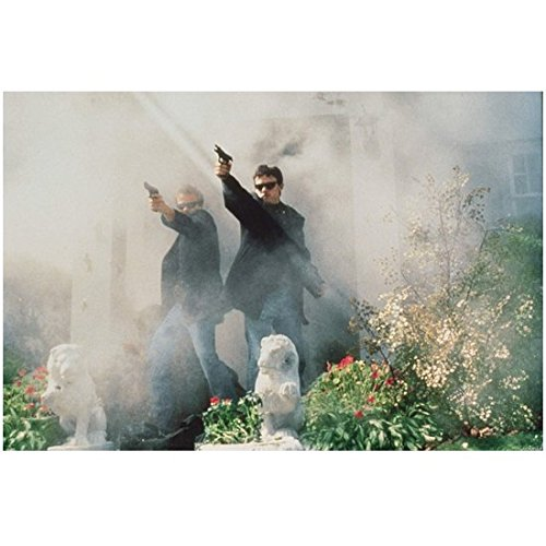 The Boondock Saints (TV Series 1999) 8 inch by 10 inch PHOTOGRAPH Norman Reedus & Patrick Flanery Both in Sunglasses & Aiming Guns Lots of Smoke ()