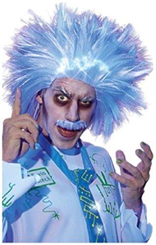 Ravin Lunatech Wig & Mustache - Albert Einstein Light Up Wig (Einstein Costume Wig)