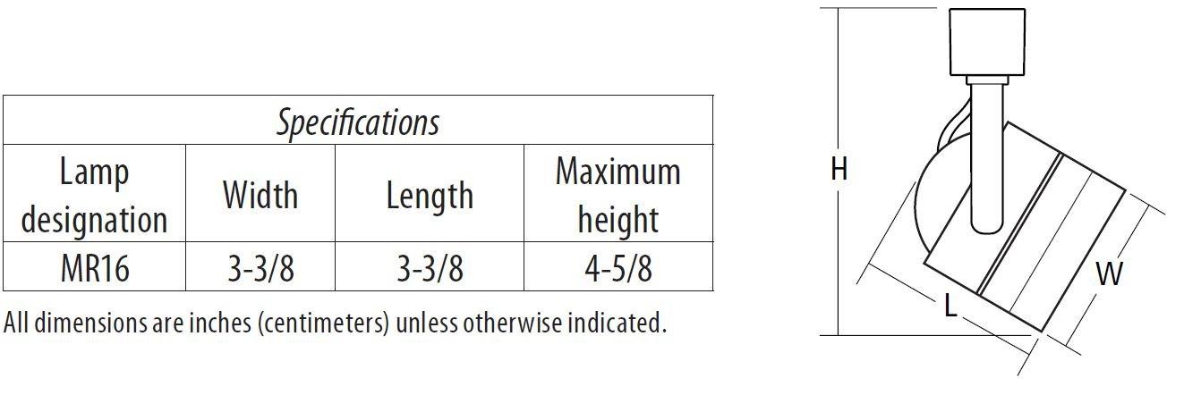 Lithonia Lighting LTKMSBK Adjustable 3-Head Halogen Track Lightning