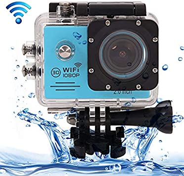 CAOMING SJ7000 Full HD 1080P 2.0 inch LCD Screen Novatek 96655 WiFi Sports Camcorder Camera with Waterproof Case 170 Degrees HD Wide-Angle Lens 30m Waterproof Durable Color : Gold