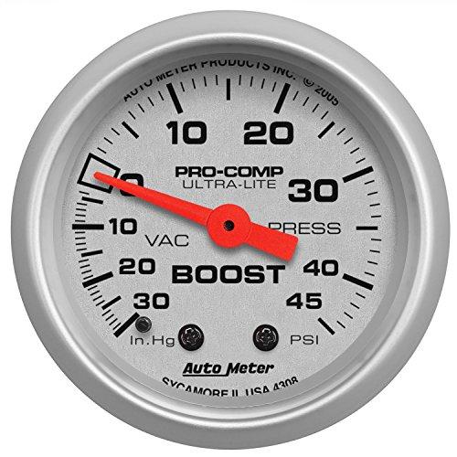 Auto Meter 4308 Ultra-Lite Mechanical Boost/Vacuum ()