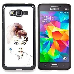 For Samsung Galaxy Grand Prime SM-G530F G530FZ G530Y G530H G530FZ/DS , Retro Vintage Movie Star Actriz - Diseño Patrón Teléfono Caso Cubierta Case Bumper Duro Protección Case Cover Funda