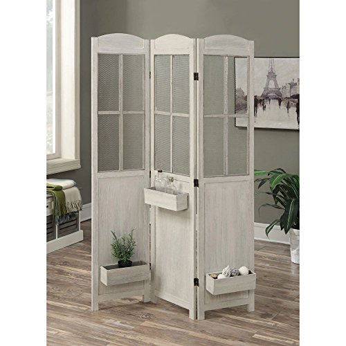 Coaster Room Divider with Box in Antique White
