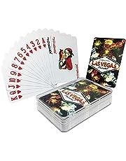 ورق لعب بلوت او كوتشينة مع محفظة بلاستيكية، لاس فيغاس