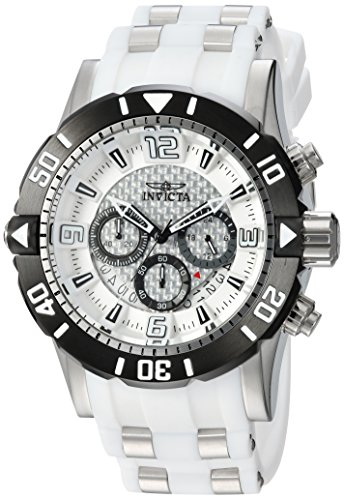 Invicta Men's Pro Diver Stainless Steel Quartz Diving Watch with Polyurethane Strap, Two Tone, 26 (Model: 23697) ()