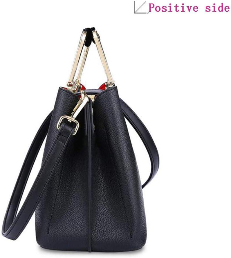 DHTOMC Women's Handbags PU Leather Tote Top Handle Shoulder Bags,B B