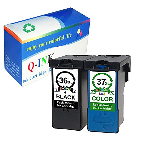 QINK 2 Pack  for Lexmark 36XL 37XL Ink Cartridge High Yield