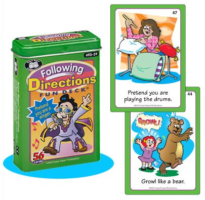 Following Directions Fun Deck Cards - Super Duper Educational Learning Toy for Kids by Super DuperPublications