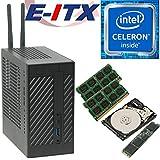 Asrock DeskMini 110 Intel Celeron G3930 Mini-STX System, 8GB Dual Channel DDR4, 120GB NVMe M.2 SSD, 2TB HDD, NO OS, Pre-Assembled and Tested by E-ITX