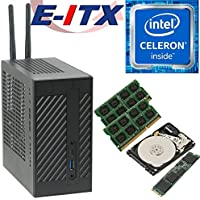 Asrock DeskMini 110 Intel Celeron G3930 Mini-STX System, 8GB Dual Channel DDR4, 120GB NVMe M.2 SSD, 1TB HDD, NO OS, Pre-Assembled and Tested by E-ITX