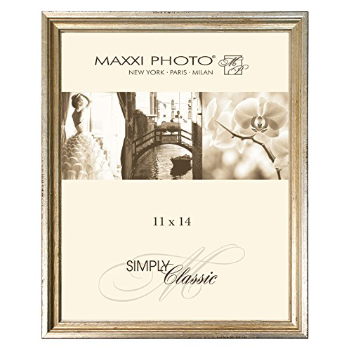 Maxxi Designs Gallery Frame with Sawtooth Hanger, 11 x 14, Antique Silver Leaf Hampton Classics Antique Silver Tableware