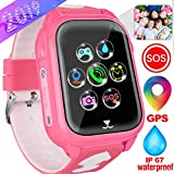 Kids Smart Watches Phone with GPS Locator Pedometer Waterproof IP67 Fitness Tracker Call