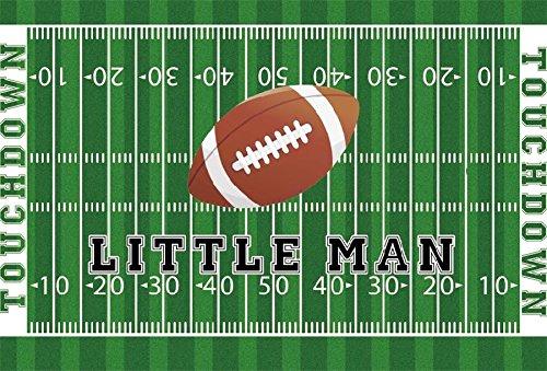 lfeey 7 x 5ft Rugby Touchdown Boys Little Man誕生日写真バックドロップ子供スポーツテーマGrasslandフィールド写真背景小道具   B07D5CQZWW