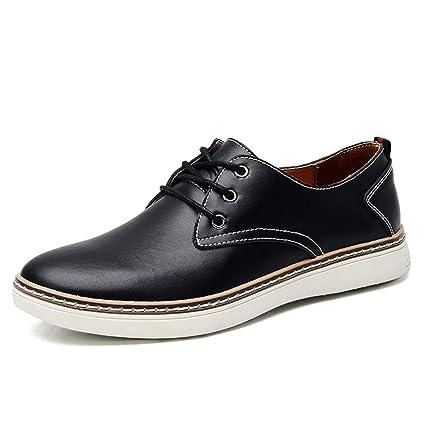 Shufang-shoes, Zapatos Mocasines para Hombre 2018 Simple y cómodo para Hombre con Punta