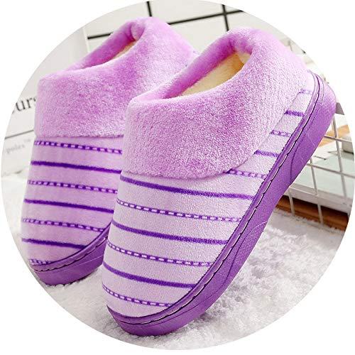 Tout flip en Peluche flop d'hiver Compris violet Ménage Coton Mois en Femmes De Chaussures Intérieur À Pantoufles Épaississement Fond Coton Antidérapant Chaud Domicile Couple wrYadnfrT