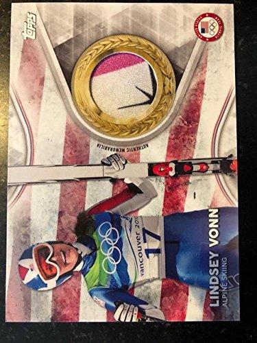 2018 Topps US Winter Olympics Team USA Memorabilia Pieces #TMC-LV Lindsey Vonn MEM w Star Alpine Skiing from US Winter Olympics